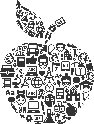 Education and back to. Apples clipart doodle