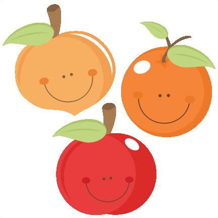 Cute fruit peach apple. Apples clipart doodle