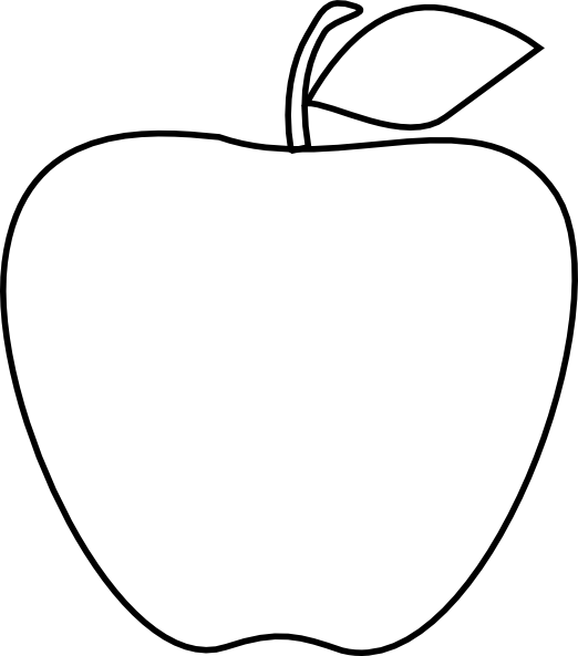 Gate clipart sketches. Line drawing of apple