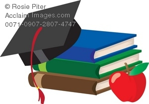 Clip art illustration of. Apple clipart education