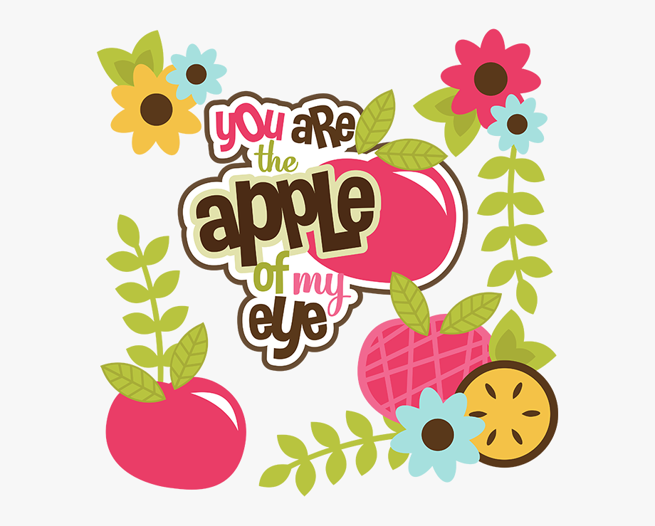 You are the apple. Apples clipart eye