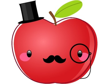 Apples clipart cute. Freebie dapper apple by