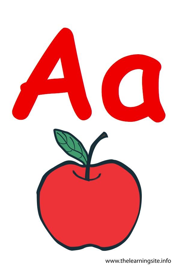 Apples clipart flashcard. The learning site flashcardalphabetletteraapple