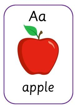 a apple free. Apples clipart flashcard