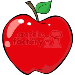 Apple clipart illustration. Cartoon red royalty free