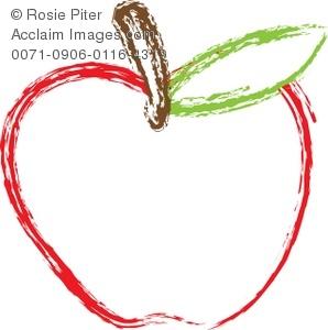 Clip art of a. Apple clipart illustration