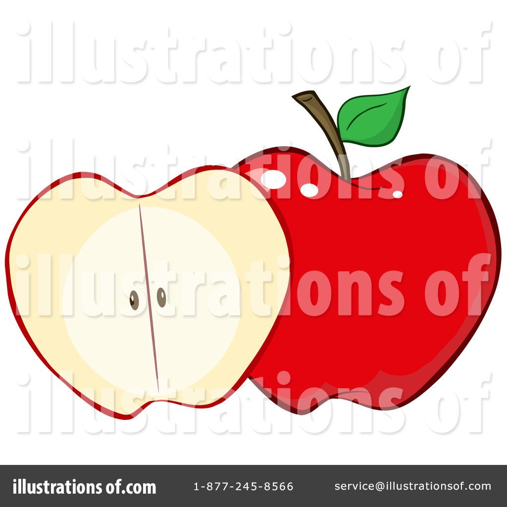 Apple clipart illustration. By hit toon royaltyfree