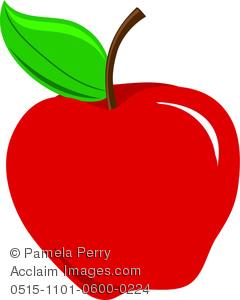 Apple clipart illustration. Clip art of a