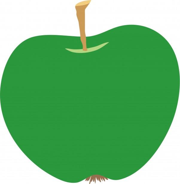 Green free stock photo. Apple clipart illustration