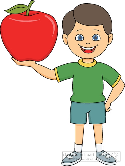 Apple clipart kid. Eating clipartuse