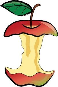 Apple clipart kid. Half red arts and