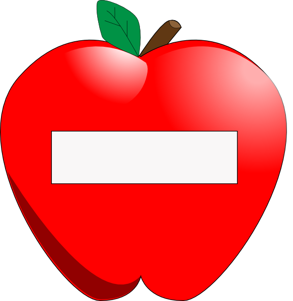 Fruits clipart kid. Apple name tag clip