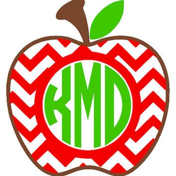 Apples clipart monogram. Shop chevron decals on