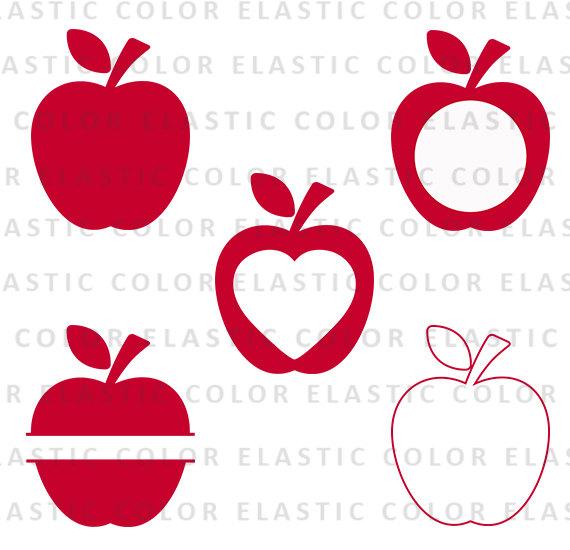 Apple svg files digital. Apples clipart monogram
