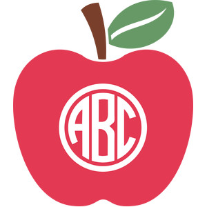 Apples clipart monogram. Silhouette design store view