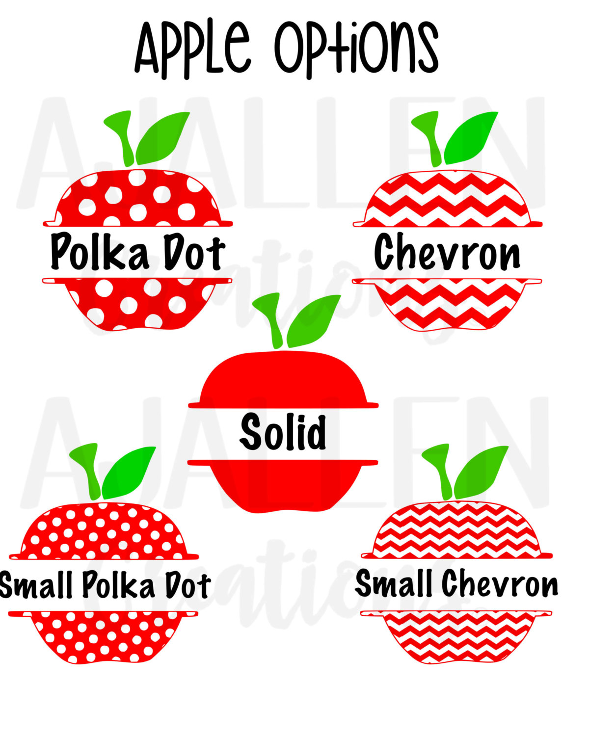 Apple clipart name. Vinyl decal or iron