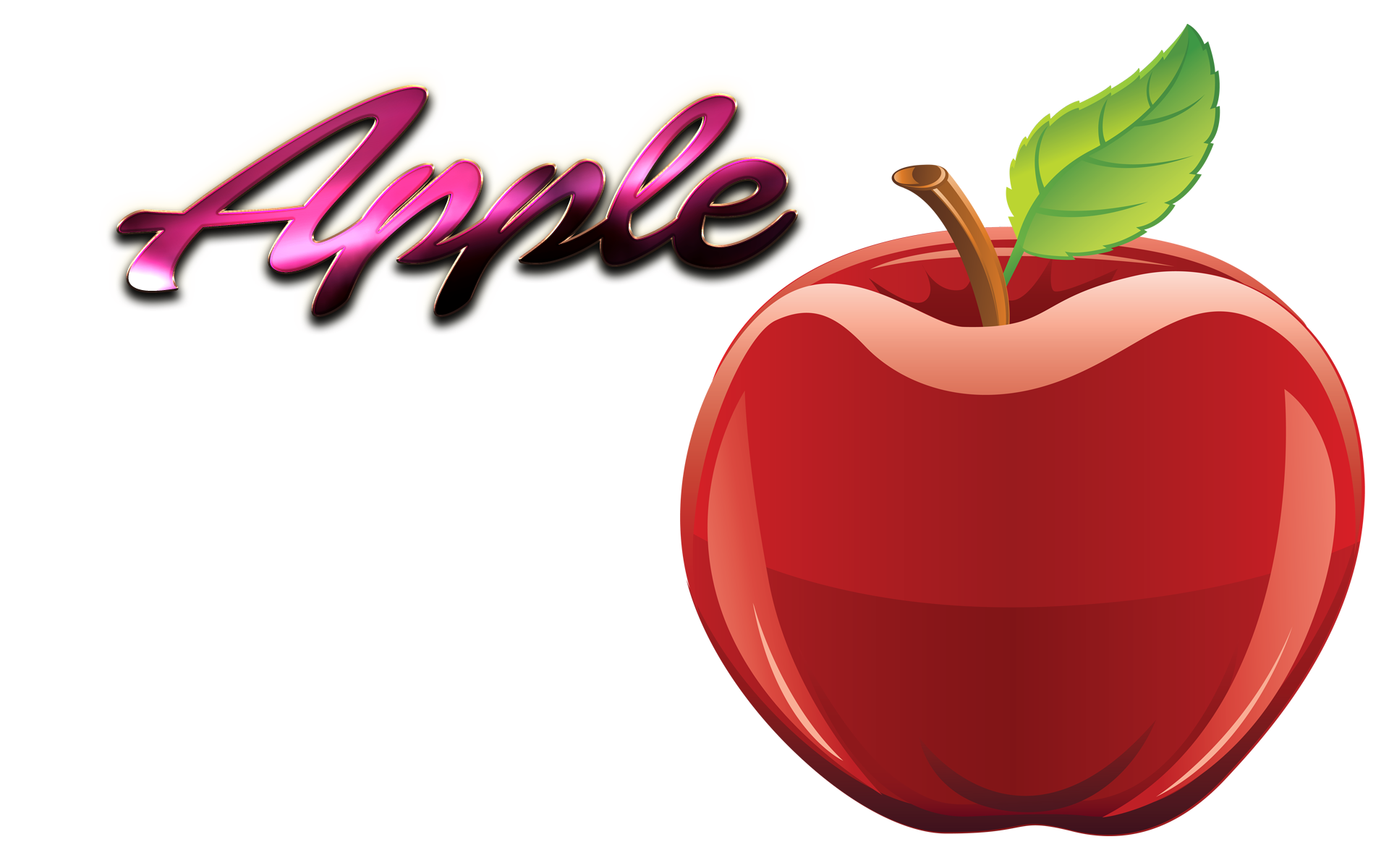 Apple clipart name. Png ready made logo