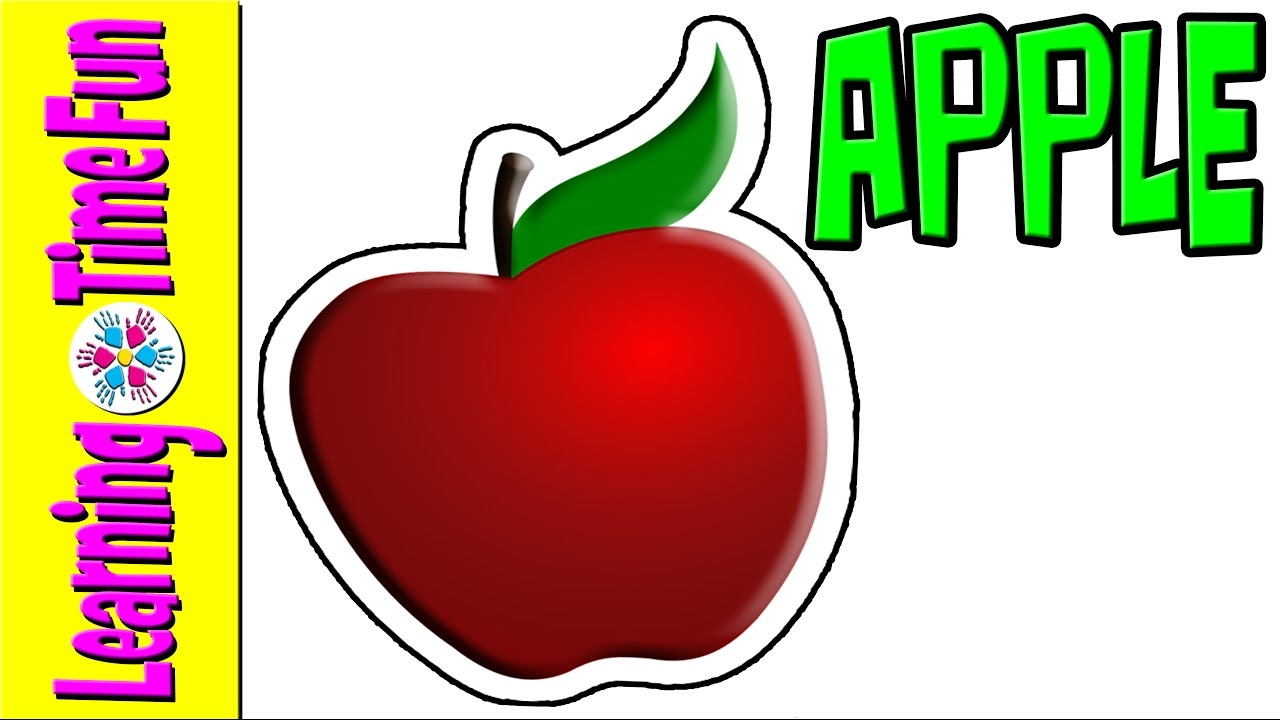 collection of fruits. Apple clipart name