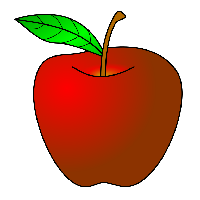 One clipart whole. File red apple svg