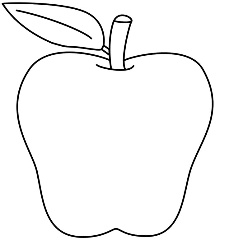 Apples clipart preschool. Apple black and white