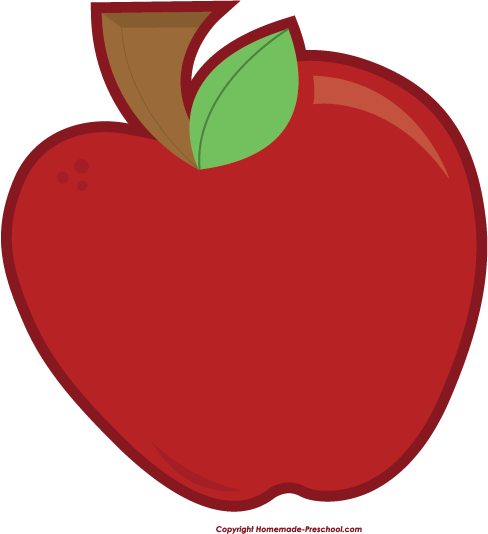 Free apple . Apples clipart preschool