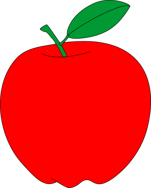 Clipart tree pdf. Red apple free vector