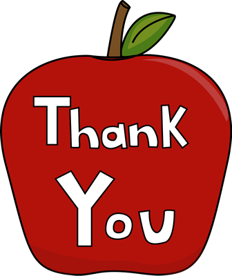 Images of thank you. Thanks clipart teacher appreciation week