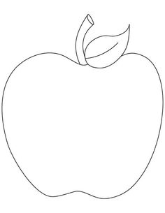 photograph about Apple Stencil Printable titled Apple clipart template, Apple template Clear Totally free for