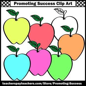Apple clipart theme. Pastel colors commercial use