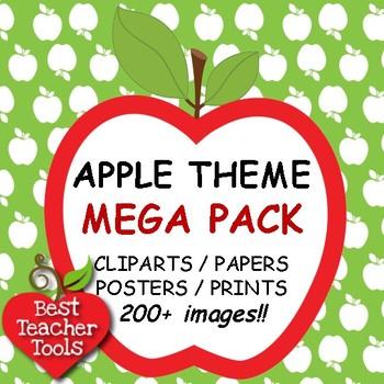 Mega pack clip art. Apple clipart theme