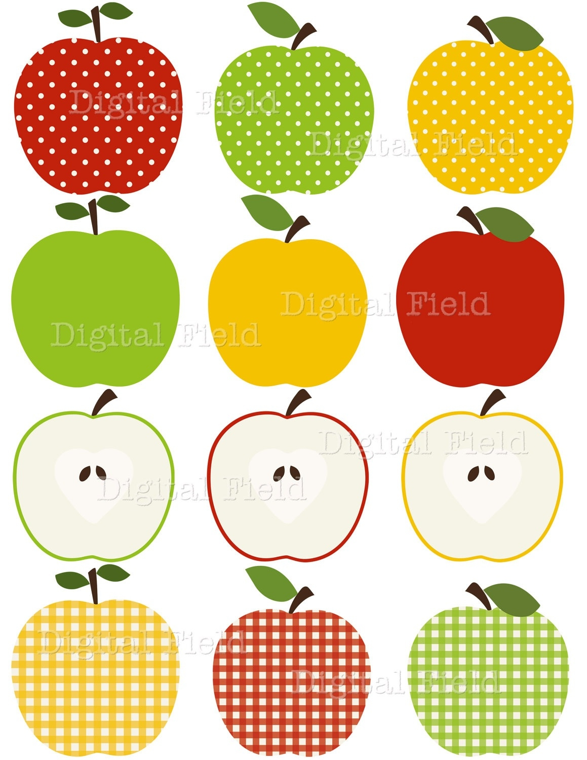 Wonderful of green and. Apples clipart borders