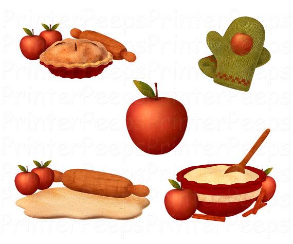 Apples clipart vintage. Apple pie