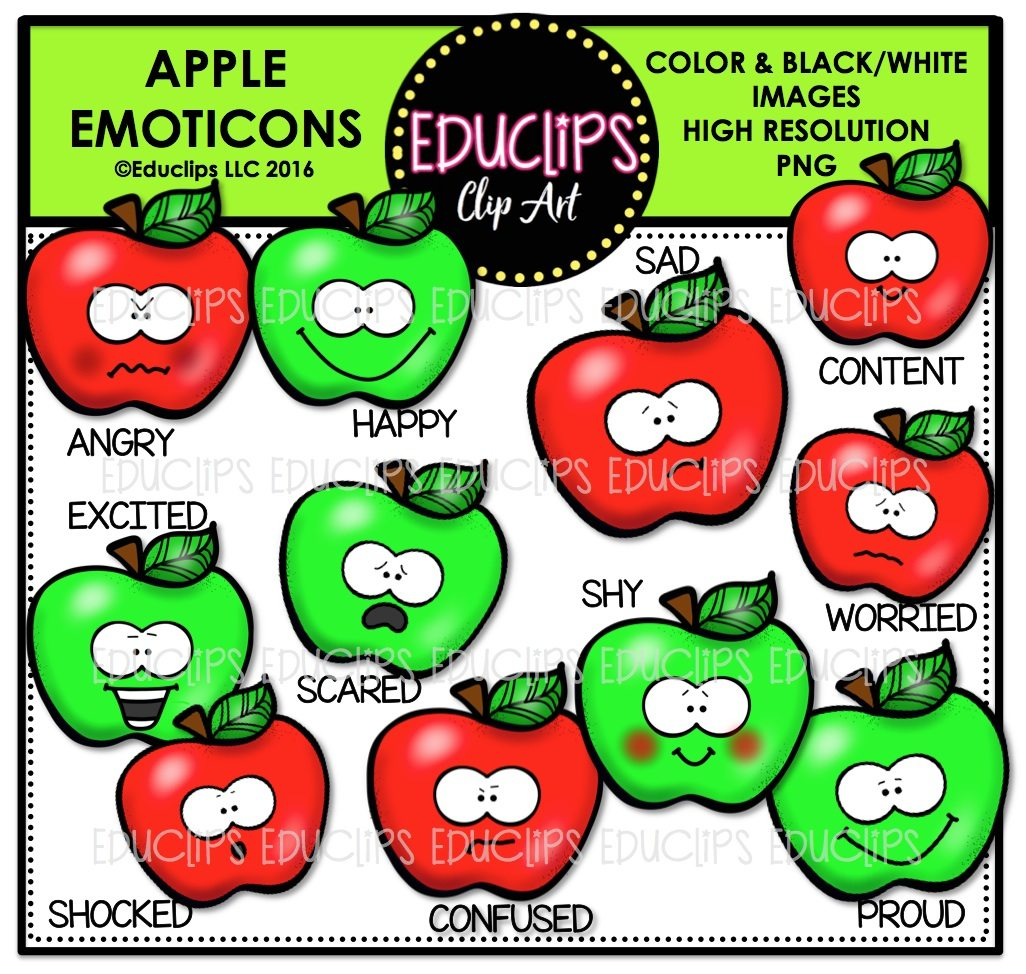 Fall emoticons clip art. Apples clipart angry