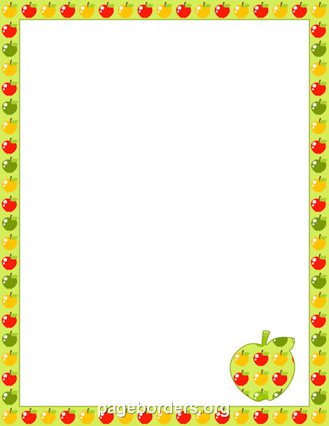 Border projects to try. Apple clipart borders