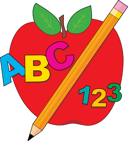 Cartoon apple free collection. Preschool clipart block