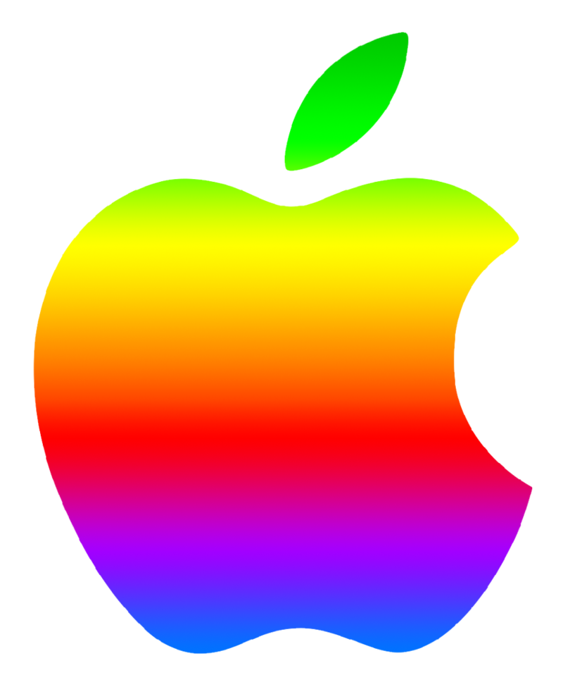 Colored modern by greenmachine. Logo clipart apple