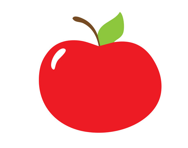 Red apple free stock. Apples clipart cute
