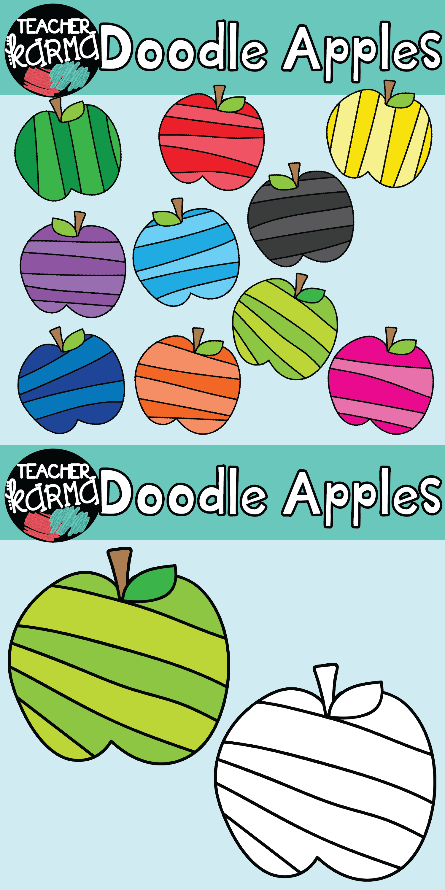 Apples clipart doodle. Classroom resources and teacher