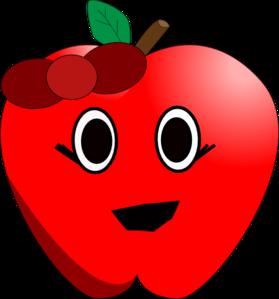 Apples clipart eye. Smiling apple clip art