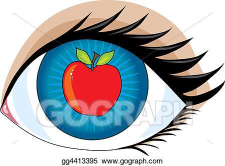 Clip art apple of. Apples clipart eye