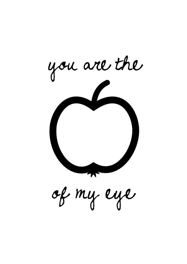 Apples clipart eye.  best apple of