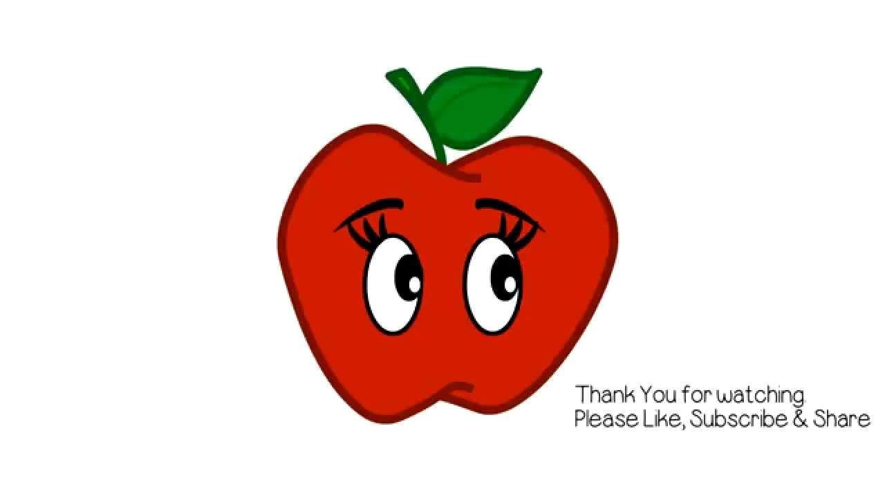 Apples clipart eye. Apple drawing for kids