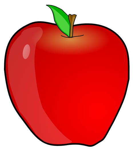 Apples clipart flashcard. Fruits in english flashcards