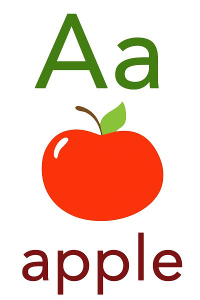 best baby flashcards. Apples clipart flashcard