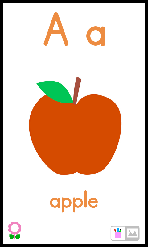 Apples clipart flashcard. Amazon com a for