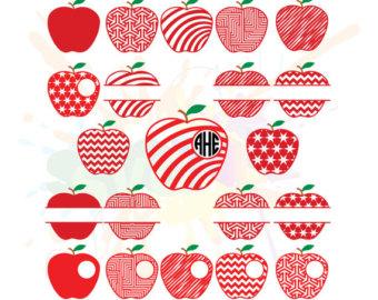 Apple svg files for. Apples clipart monogram