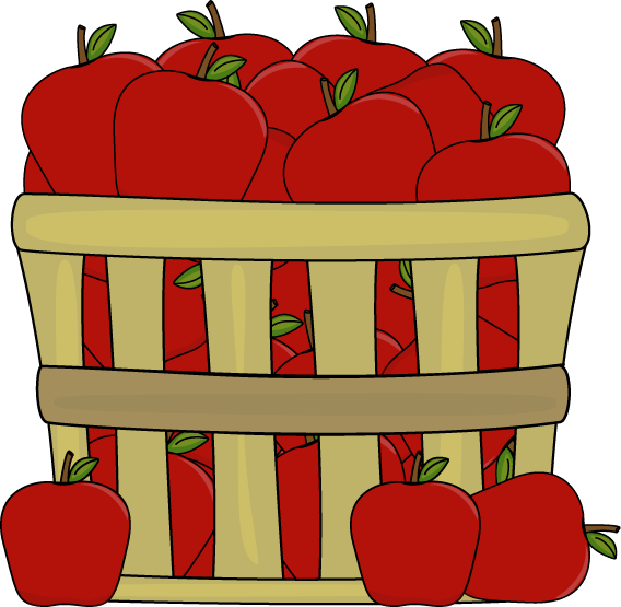 Clipart apples. In a basket clip