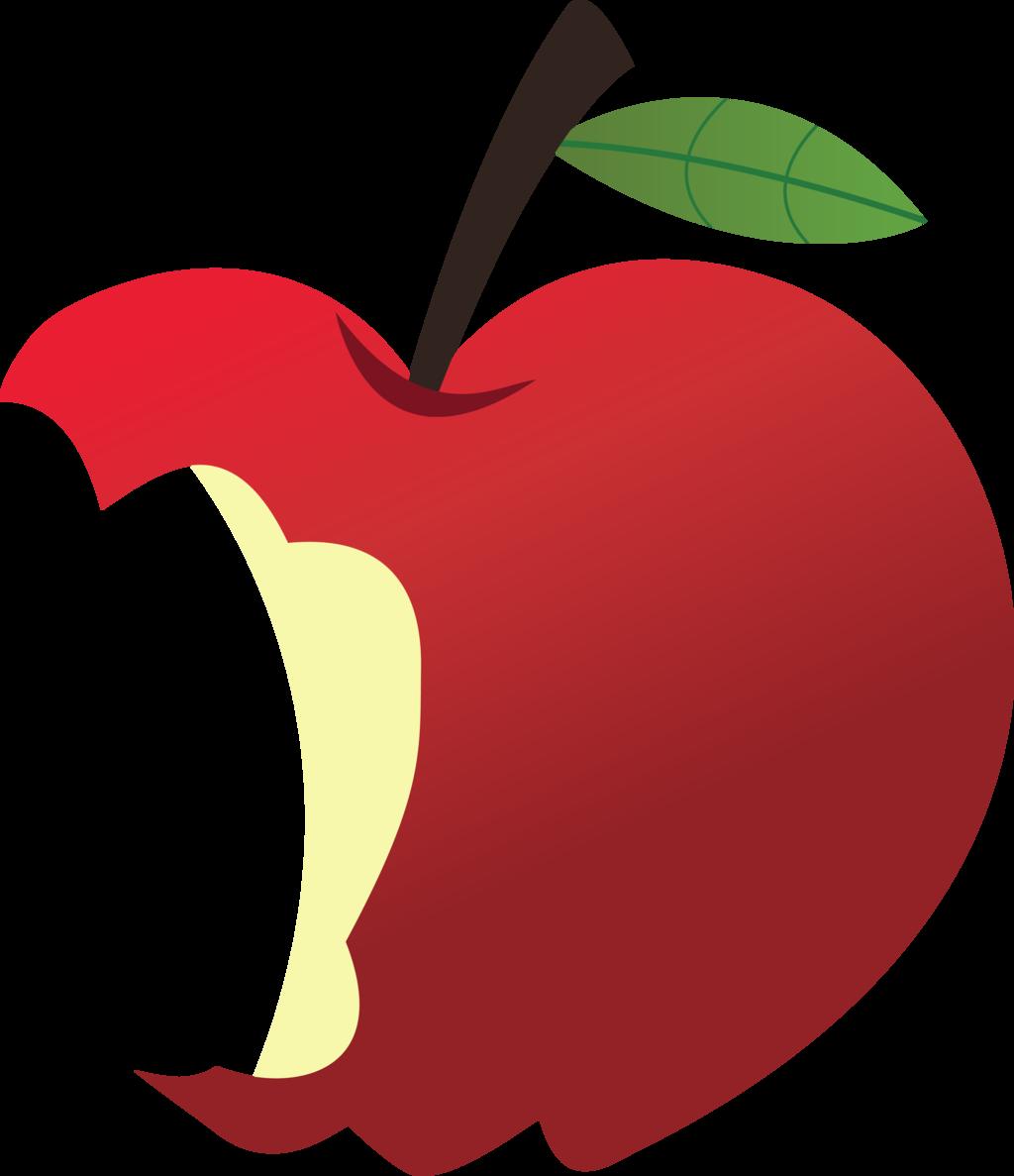 Apple imagens de clip. Pear clipart bitten