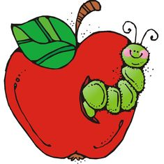 Valentine s day caterpillar. Apples clipart preschool