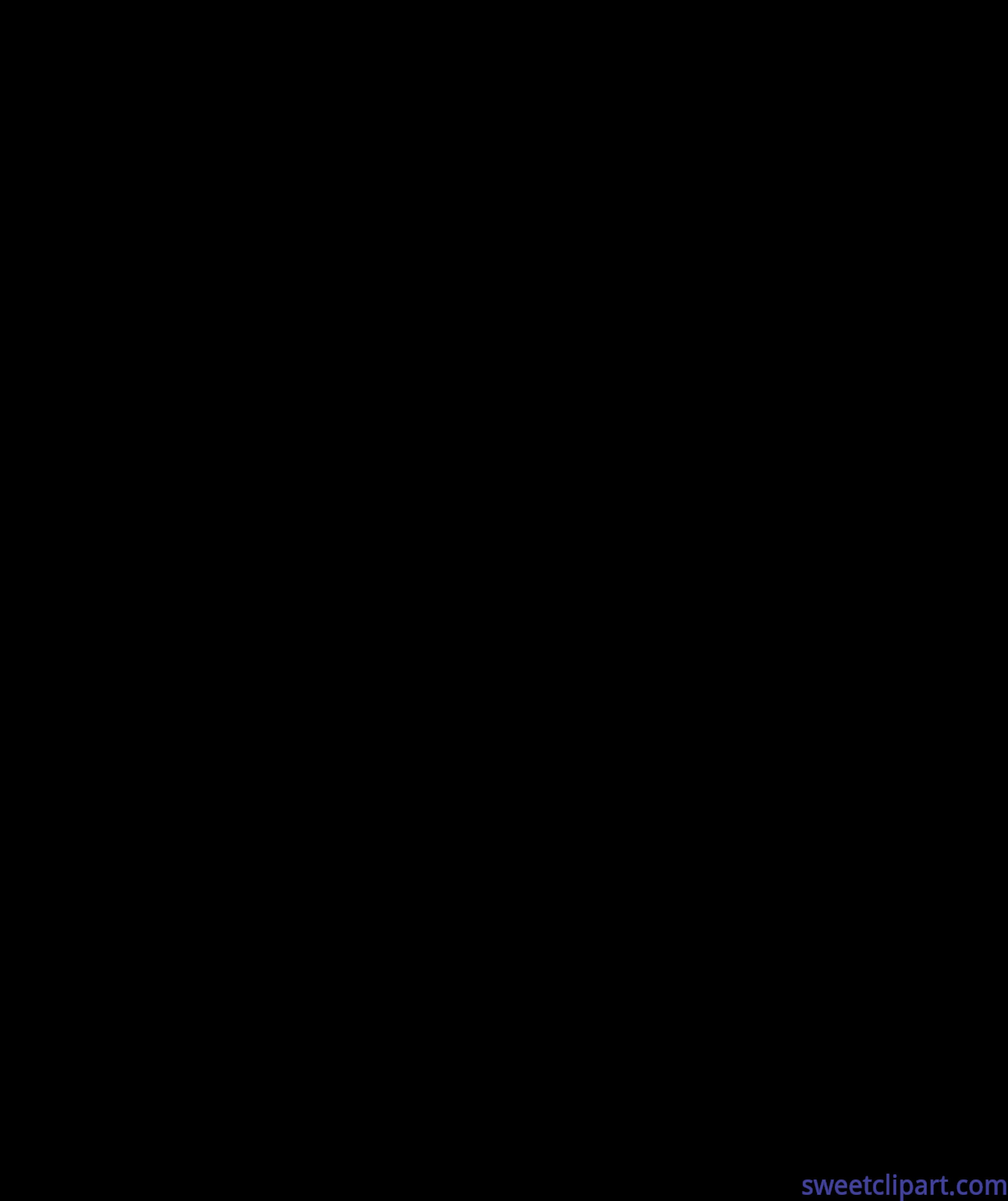 Pineapple clipart silhouette. Apple black clip art